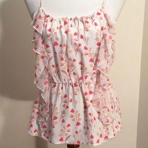 Lauren Conrad blouse with ruffle. Never worn